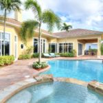 Pool towards house